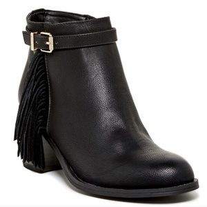 Sam Edelman Jolie Fringe Leather Fall Booties Boot